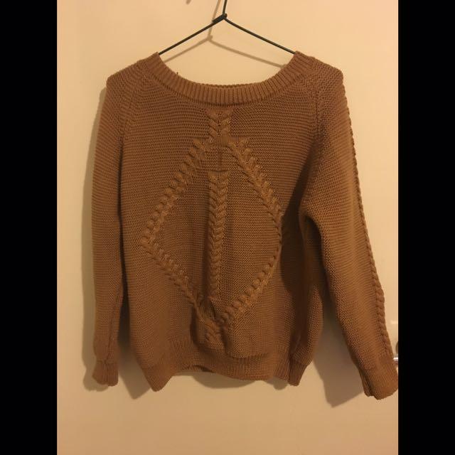 Caramel Knitted Jumper