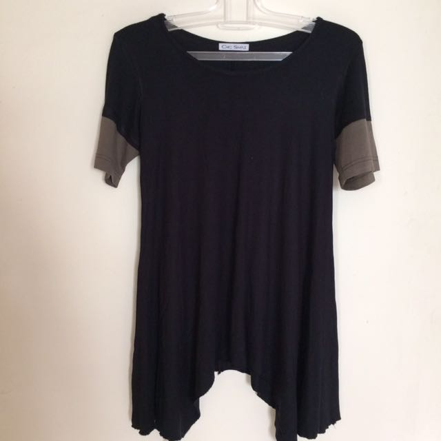 Chic Simple Uneven T Shirt