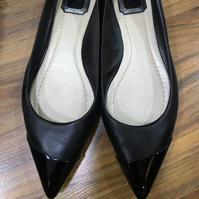 Christian Dior Black Classic Flats