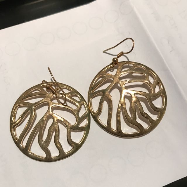 Circle Gold Earrings