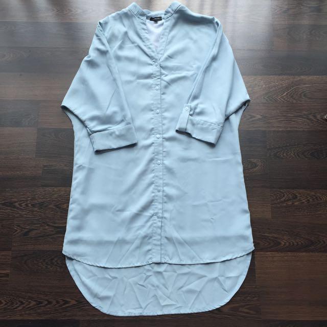 Cloth Inc : Long Sleeve Shirt Dress