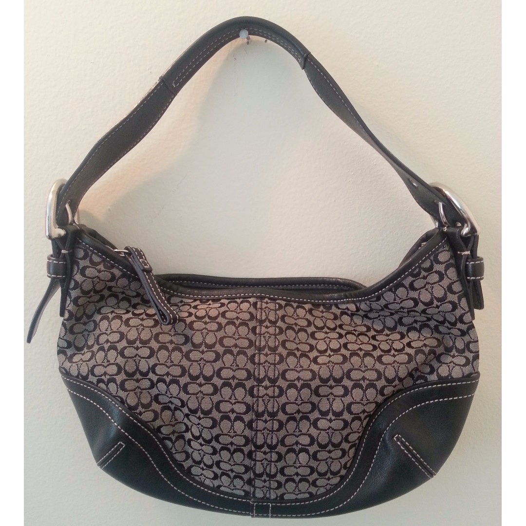 Coach Black Canvas Small Handbag
