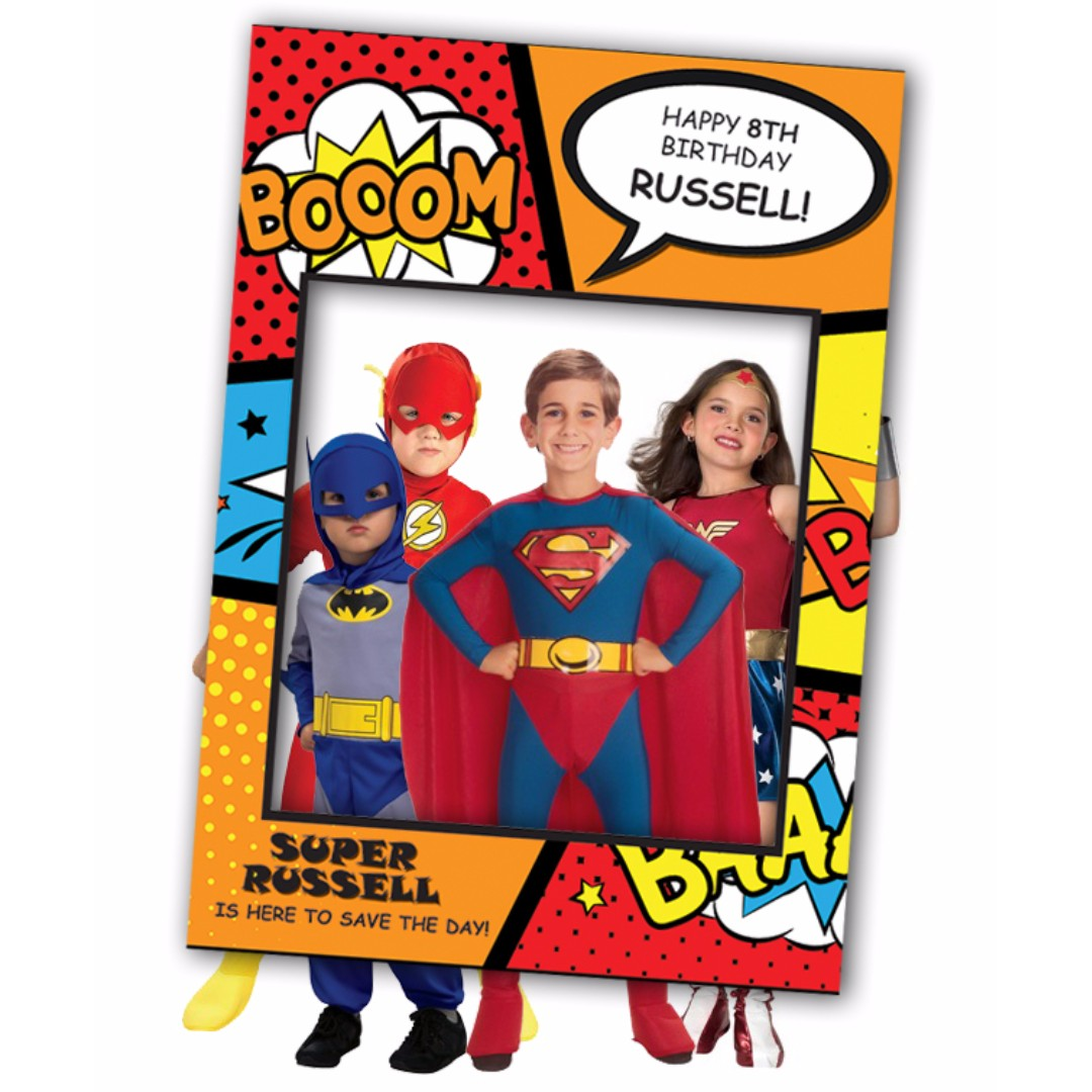 Custom Large Comic Superhero Photo Booth Frame Toys Games Others