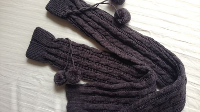 Dark Grey Knitted Leg Watmers