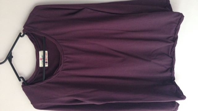 Deep Purple Long Sleeved Blouse