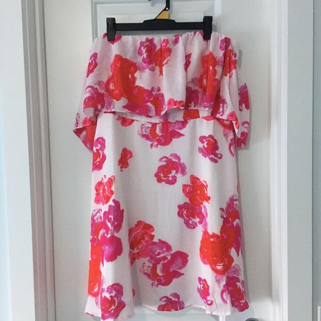 Dotti Floral Off The Shoulder Dress