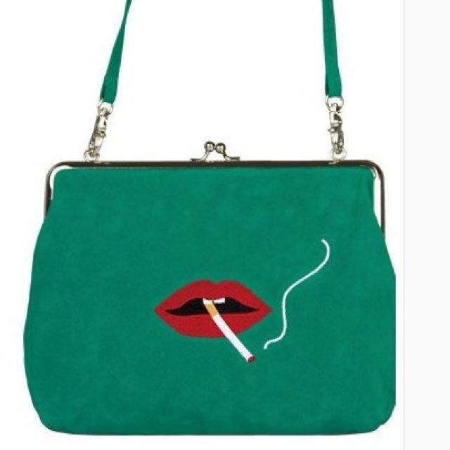 Embroidery Shoulder Messenger Bag by Yizistore