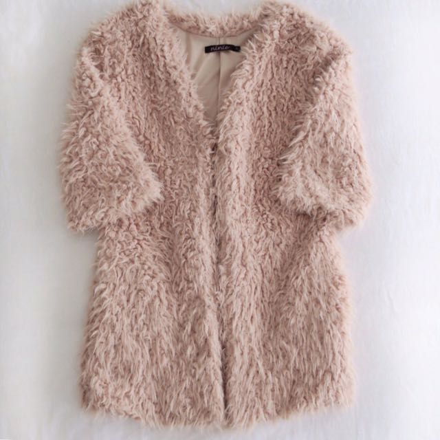 Fluffy Light Pink Coat (Size S)