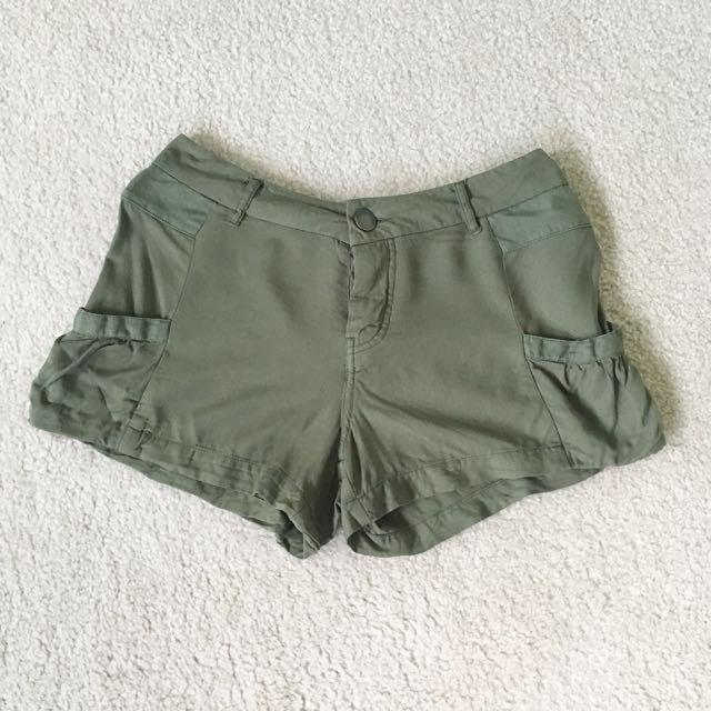 Forever 21 Olive Shorts
