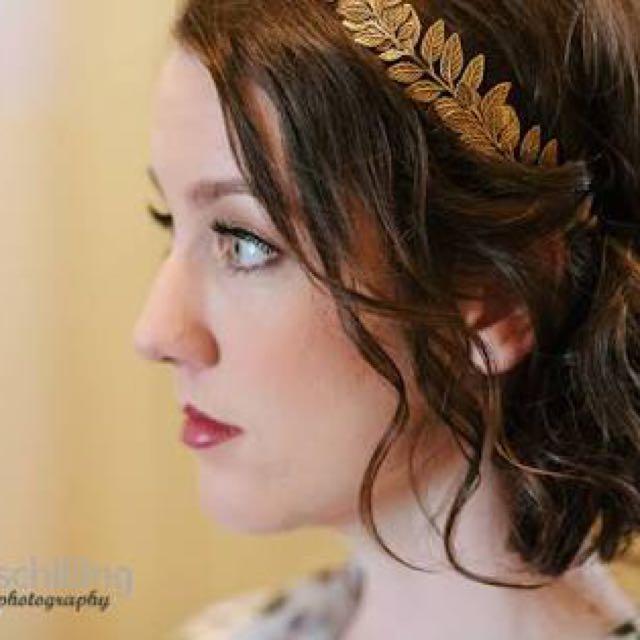 Goddess Golden Leaf Headband