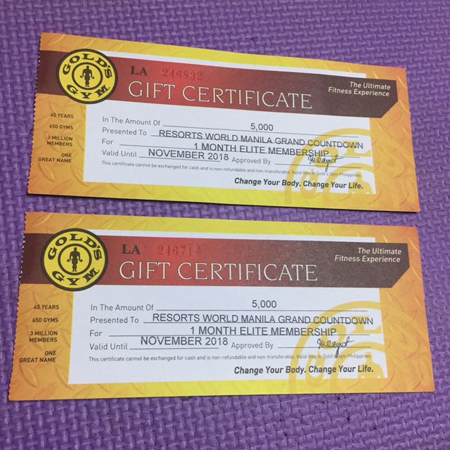 Gold's Gym 1 Month Elite Membership
