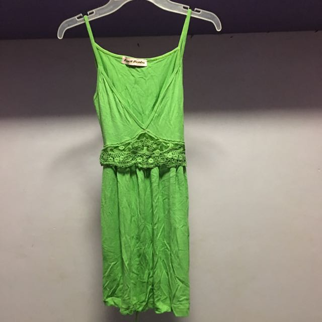 Green Sleeveless With Lace
