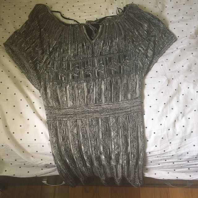 Guess Knitted Off The Shoulder Dress