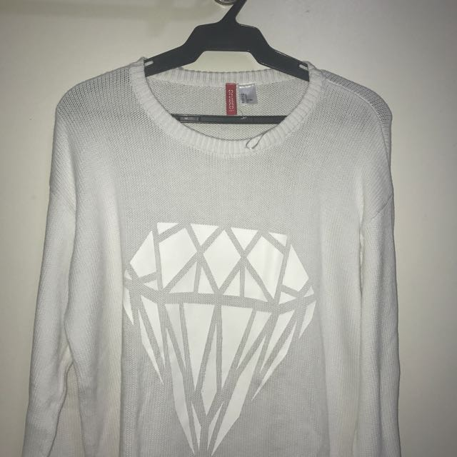 H&M Over Sized Diamond Knit Sweater