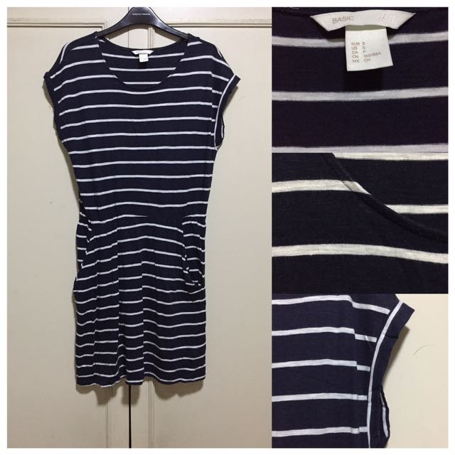 H&M Striped Garterized Dress