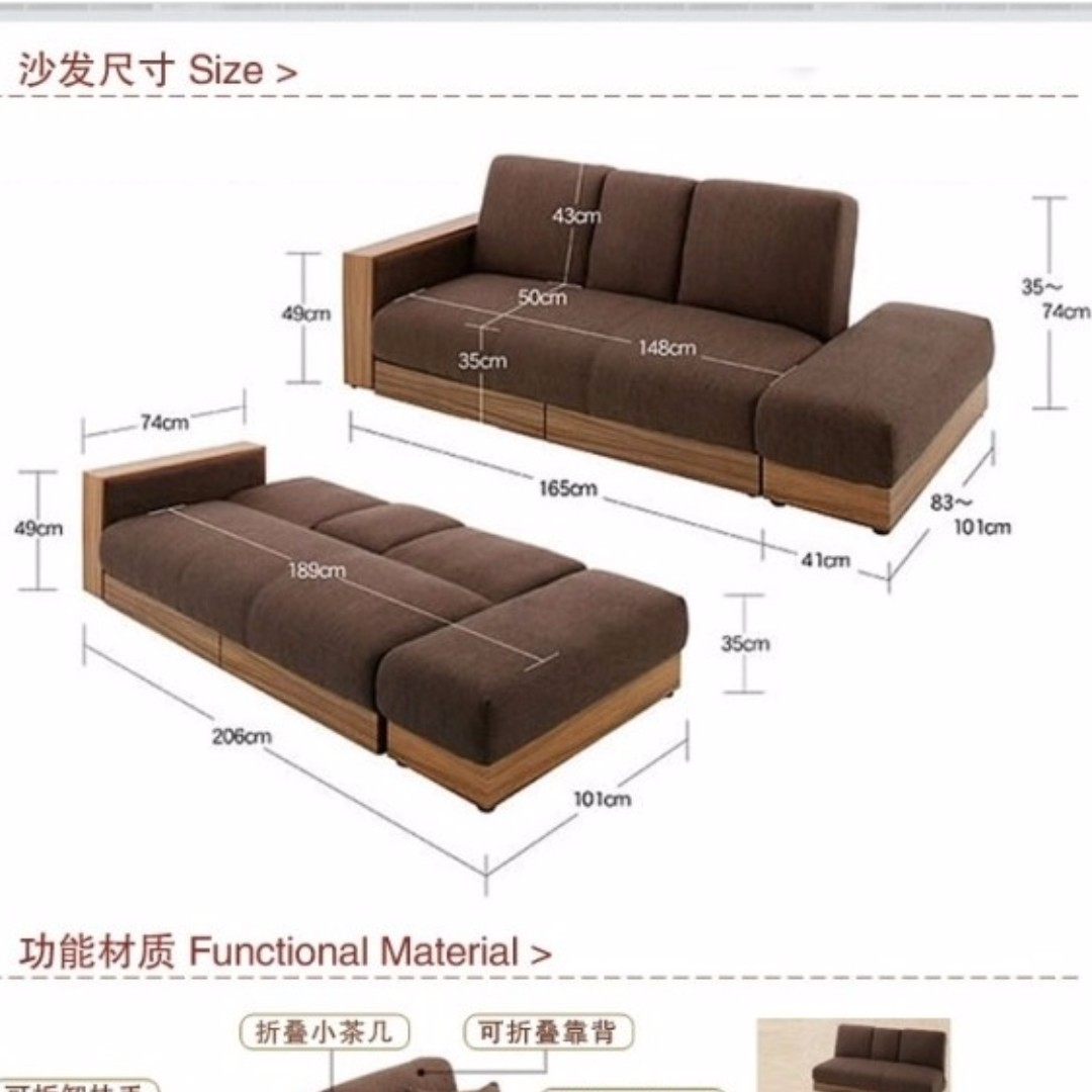 Japanese Style Sofa Bed, Home U0026 Furniture, Furniture, Sofas On Carousell