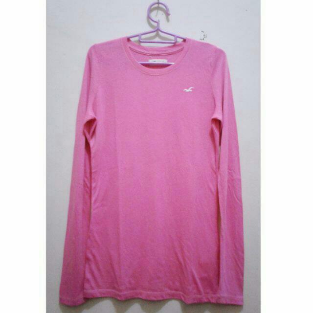 Kaos Panjang Top Atasan Pink Blouse Longsleeve SALE JAI 10.000
