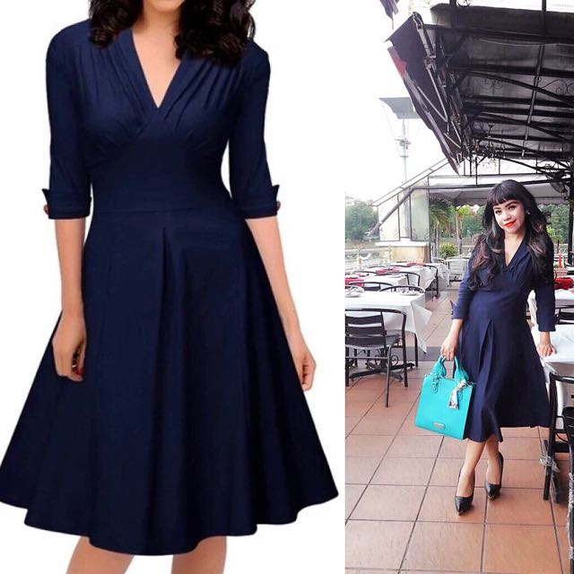 Kate Middleton Inspired Blue Navy Dress Women S Fashion Clothes Dresses On Carou