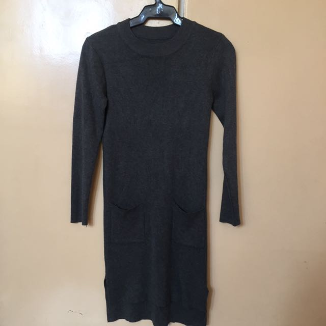 Knitted Gray Dress