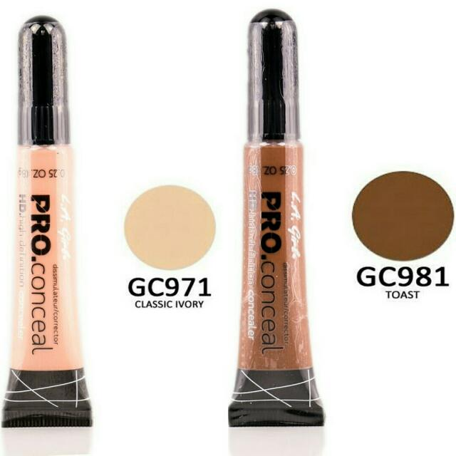 LA GIRL PRO CONCEAL IN TOAST AND CLASSIC IVORY
