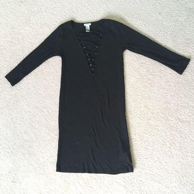 Laceup Bodycon Dress