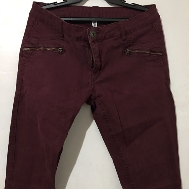Ladies Pants (Maroon)