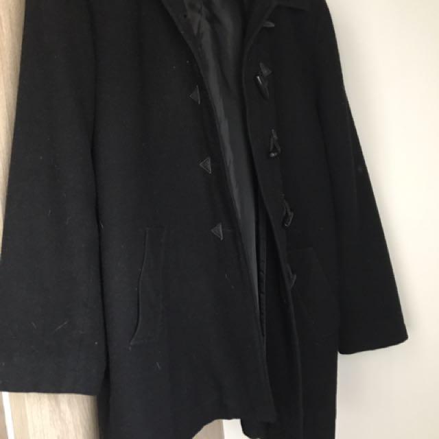 Ladies Women's Medium Size Black Coat Jacket