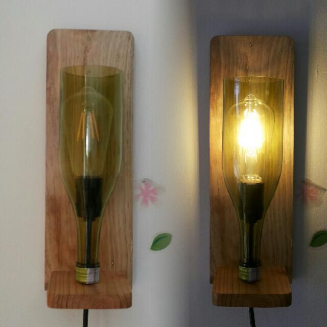 Lampu Botol Dinding