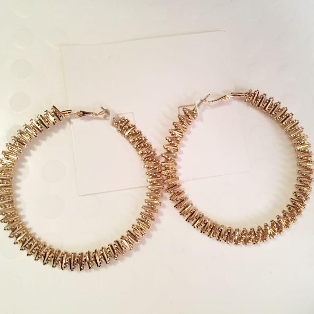 Large Gold Geometrical Earrings