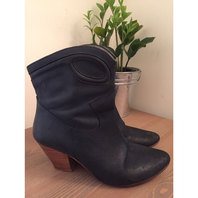 Leather Ankle Boots D.co Copenhagen