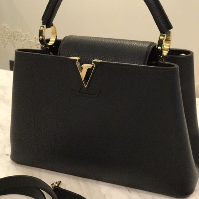 74d42b49394c33 Louis Vuitton Capucines PM Black, Luxury, Bags & Wallets on Carousell