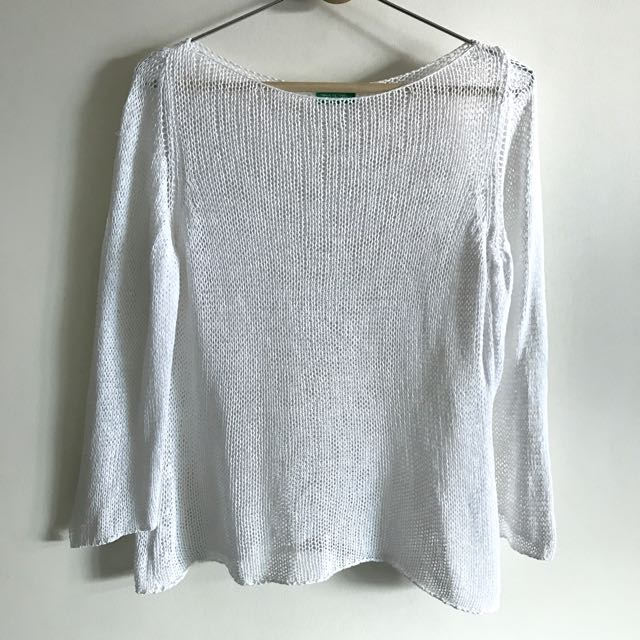 Made In Italy Of Benetton Mesh Top