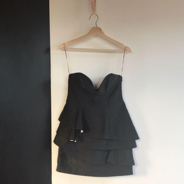MANNING CARTELL Strapless Tiered Dress