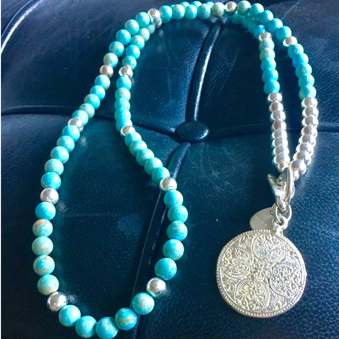 Mocha Turquoise Bead Necklace