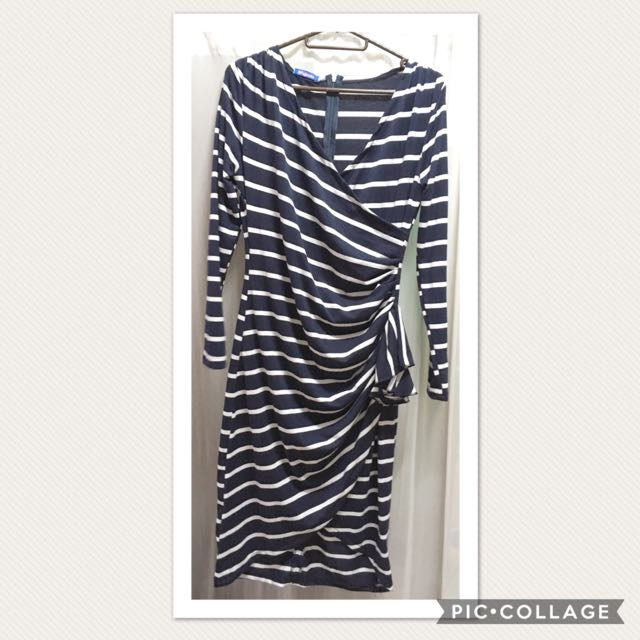 Mock Wrap-around Dress