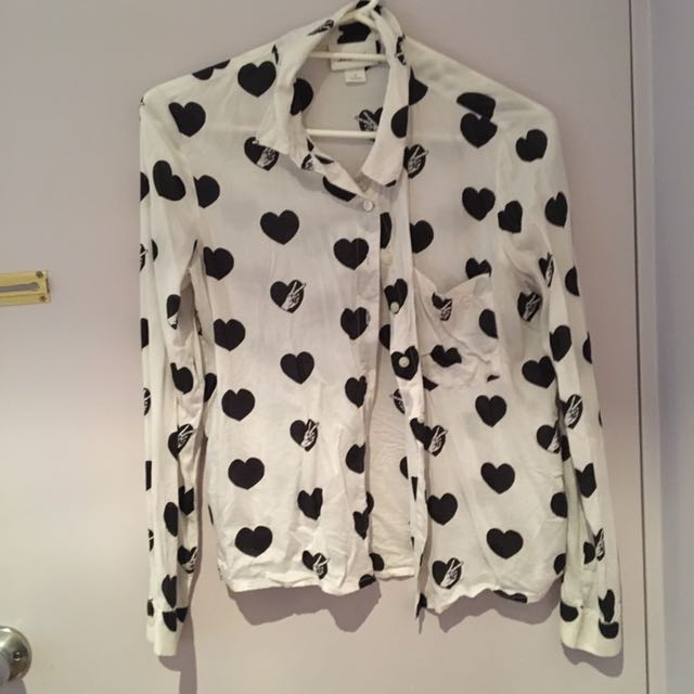 Monki Buttoned Top (s)