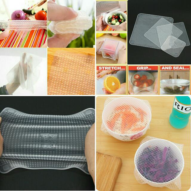 "Multifunctional & Reusable ""Stretch And Fresh"" Silicone Kitchen Wraps"
