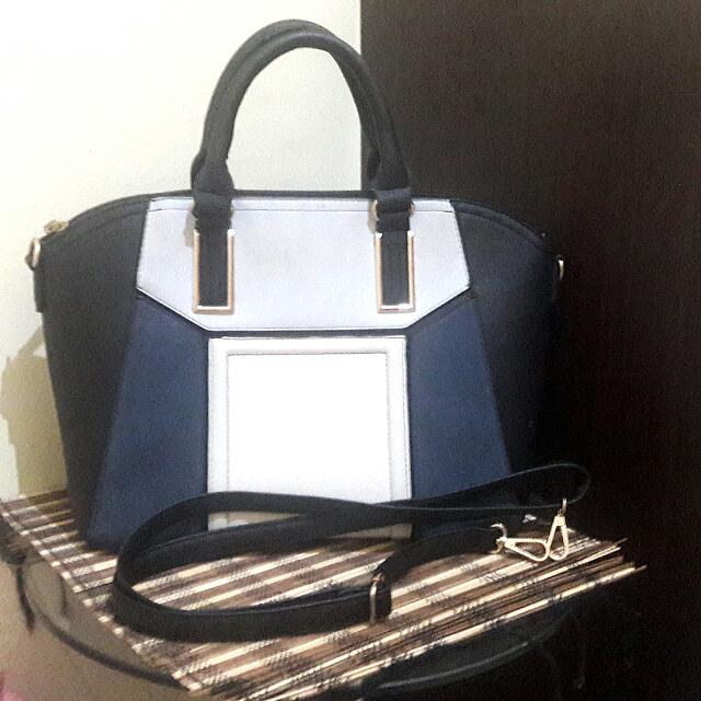 Navy Hand Bag By New Look
