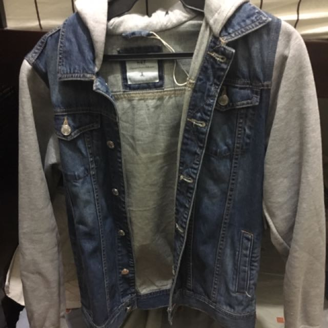 NET Denim Jacket With Cloth Sleeves