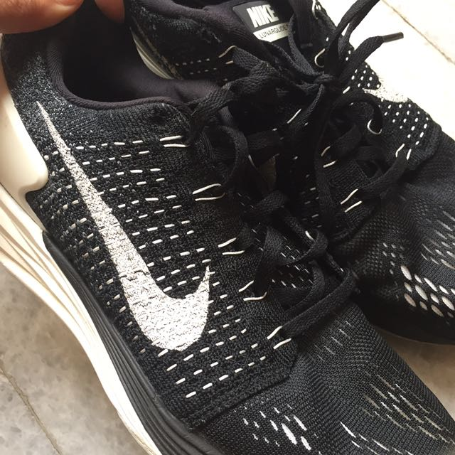 NIKE - lunarglide7, black with knit details, ORIGINAL