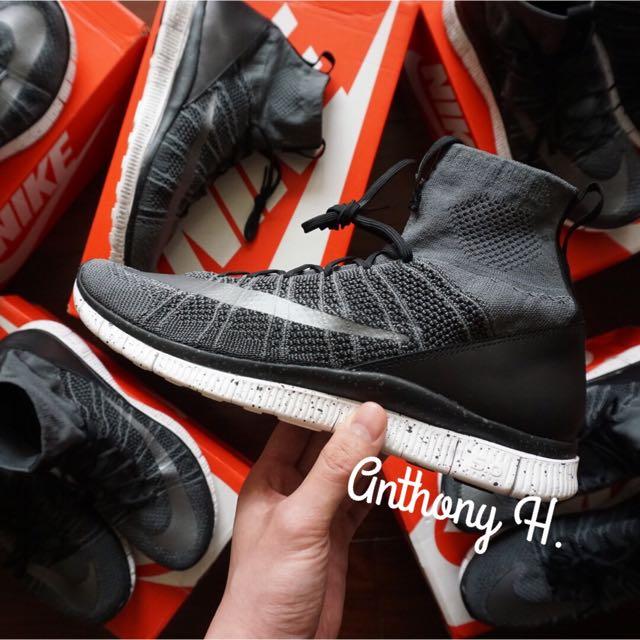 Nike Free Mercurial Flyknit 灰潑墨 深灰 呂布 US8.5