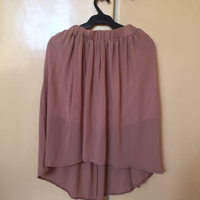 Nude Sheer Skirt