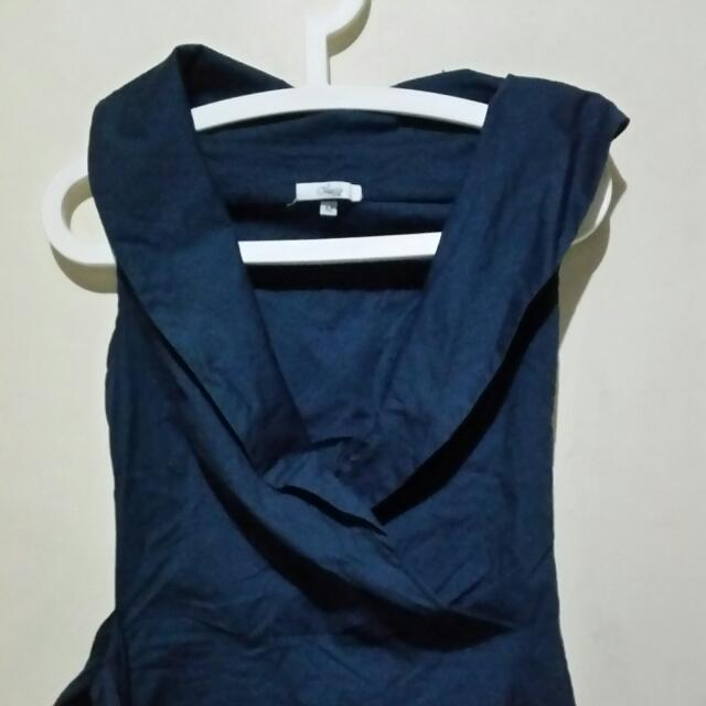 Office Blouse With Waist Ribbon