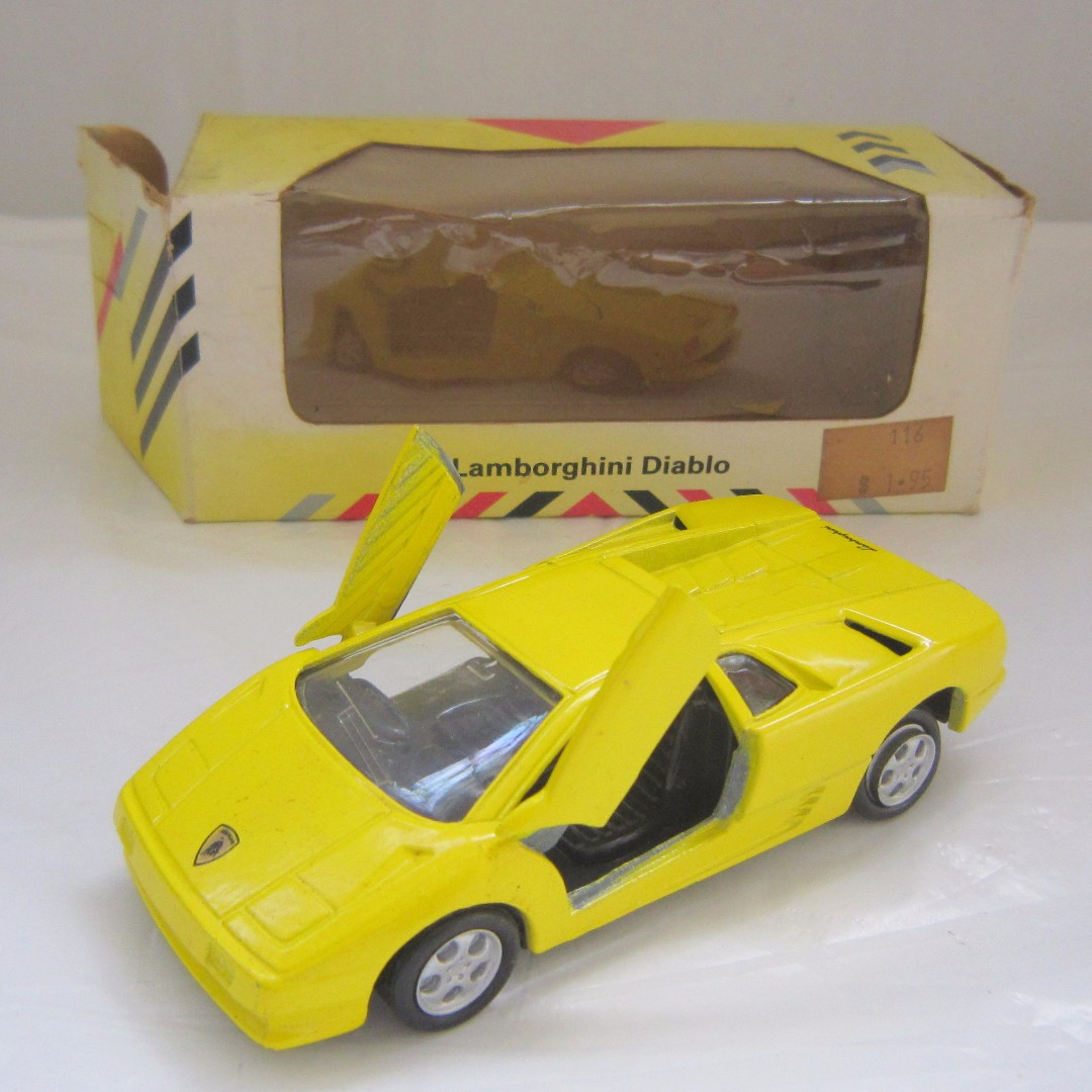 Old Toys Vintage Car Collection Lamborghini Diablo In Yellow