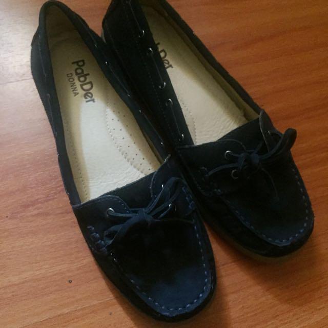 Pader Dark Blue Suede Loafers