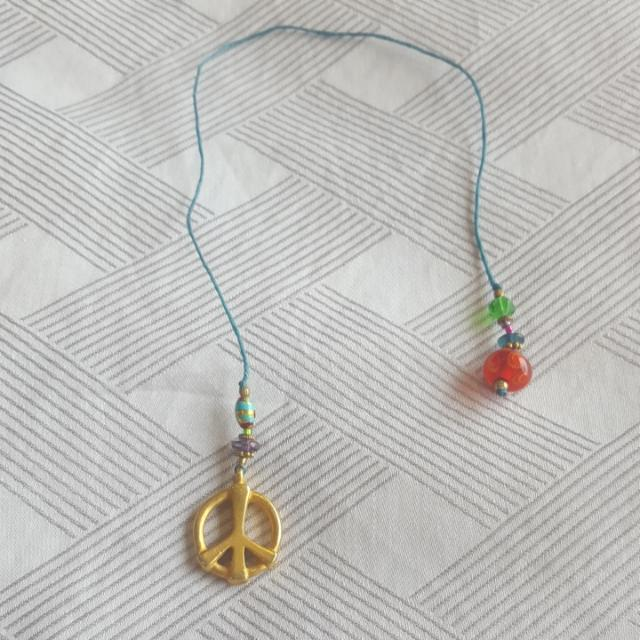 Peace Sign String Bookmark