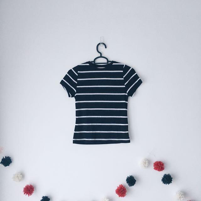 8722980b Primark Ribbed Striped Top, Women's Fashion, Clothes, Tops on Carousell