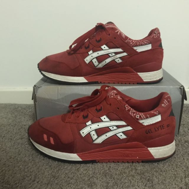RARE🔥 Asics Gel lyte iii 'Red Bandana Pack'