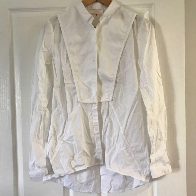sass & bide White Button Up Shirt