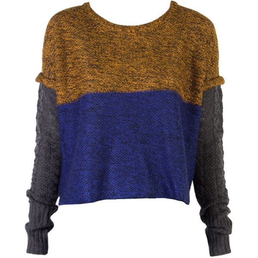 Shakuhachi Mix Yarn Sweater Sold Out Knit Sz 6/8 RRP$375